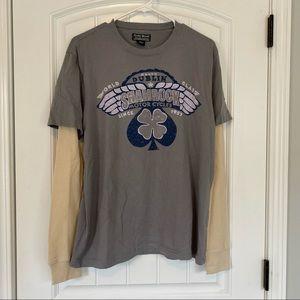 Lucky Brand Shamrock Long Sleeve Shirt Size Medium